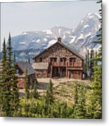 Granite Park Chalet And Heaven's Peak 3 Metal Print