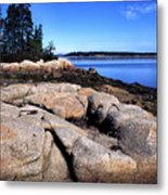 Granite Shoreline Deer Isle Maine Metal Print