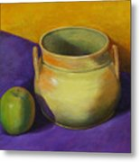 Granny Smith And The Yellow Pot Metal Print