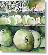 Granny Smith Apples Metal Print