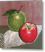 Granny Smith With Pink Lady Metal Print