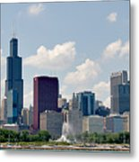 Grant Park And Chicago Skyline Metal Print