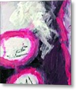 Grape Fizzies Metal Print