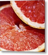 Grapefruit Halves Metal Print
