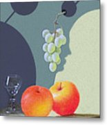 Grapes And Apples Metal Print
