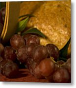 Grapes  And Bread Metal Print