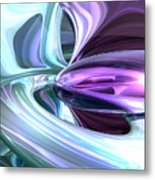 Grapes And Cream Abstract Metal Print
