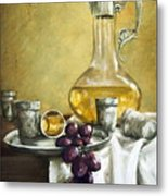 Grapes And Cristals Metal Print