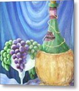 Grapes And Lace Metal Print by Janna Columbus