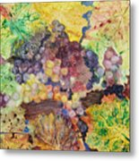 Grapes And Leaves II Metal Print