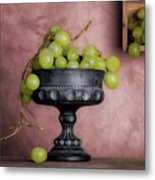 Grapes Centerpiece Metal Print
