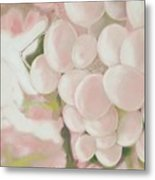 Grapes Powder Pink Metal Print