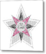 Graphic Art Silver - Yay It's Winter - Pink Metal Print