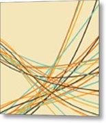 Graphic Line Pattern Metal Print by Setsiri Silapasuwanchai
