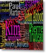 Graphic Prime Ministers Metal Print