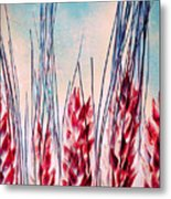 Grass Abstract Metal Print