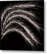 Grass Curve Coppertone Metal Print