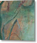 Grasshopper Looks At The Moon Metal Print