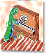Grasshoppers Don't Play Piano Metal Print