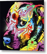 Gratitude Pit Bull Warrior Metal Print by Dean Russo