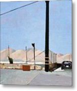 Gravel Piles Downtown La Metal Print