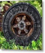 Gravel Pit Goodyear Truck Tire Metal Print