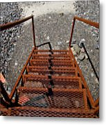 Gravel Pit Grinder Rusty Staircase Metal Print