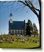 Graveyard Church Metal Print