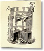 Gravity Cell Battery Metal Print