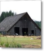 Gray Barn     Washington State Metal Print