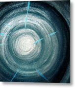Gray-blue Star. Sparkling Light Metal Print