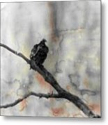 Gray Day Vulture Metal Print