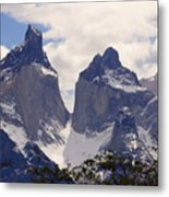 Gray Glacier Chile Metal Print