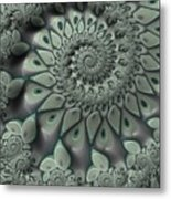 Gray Spiral Metal Print