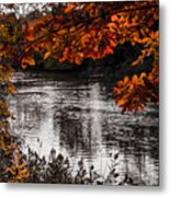 Gray Stream Metal Print