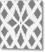 Gray Twisted Braids Metal Print