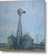 Gray Windmill 2 Metal Print