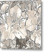Grayscale Bevy Of Beauties With Sepia Tones Metal Print