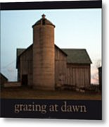 Grazing At Dawn Metal Print