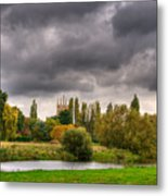 Great Barford River View Metal Print