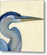 Great Blue Heron Portrait Metal Print