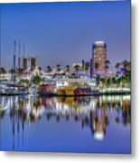 Great Blue Water Reflections Metal Print