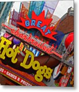 Great Charbroiled Hot Dogs Metal Print