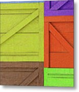 Great Crates - Multicolored Packing Boxes Stacked Metal Print
