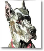 Great Dane Watercolor Metal Print
