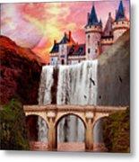 Great Falls Castle Metal Print