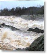Great Falls Torrent Metal Print