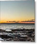 Great Head Beach Sunrise Metal Print