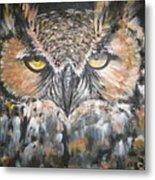 Great Hornet Owl Metal Print by Sandra Peyrolle
