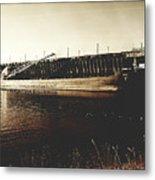 Great Lakes Iron Ore Freighter Metal Print
